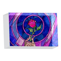Enchanted Rose Stained Glass 4 x 6  Acrylic Photo Blocks