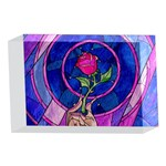 Enchanted Rose Stained Glass 4 x 6  Acrylic Photo Blocks Front