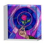 Enchanted Rose Stained Glass 5  x 5  Acrylic Photo Blocks Front