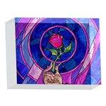 Enchanted Rose Stained Glass 5 x 7  Acrylic Photo Blocks Front