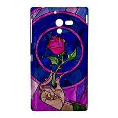 Enchanted Rose Stained Glass Sony Xperia ZL (L35H)