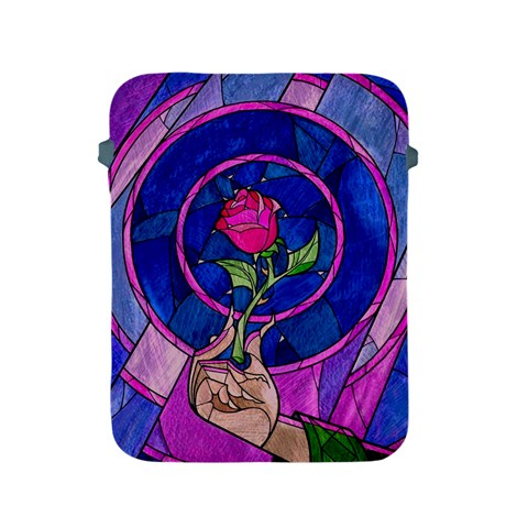 Enchanted Rose Stained Glass Apple iPad 2/3/4 Protective Soft Cases