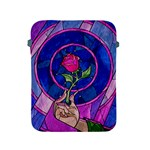 Enchanted Rose Stained Glass Apple iPad 2/3/4 Protective Soft Cases Front