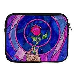 Enchanted Rose Stained Glass Apple iPad 2/3/4 Zipper Cases