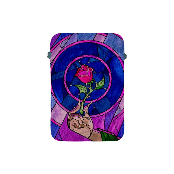 Enchanted Rose Stained Glass Apple iPad Mini Protective Soft Cases