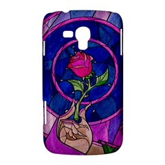 Enchanted Rose Stained Glass Samsung Galaxy Duos I8262 Hardshell Case
