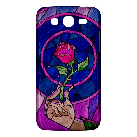 Enchanted Rose Stained Glass Samsung Galaxy Mega 5.8 I9152 Hardshell Case