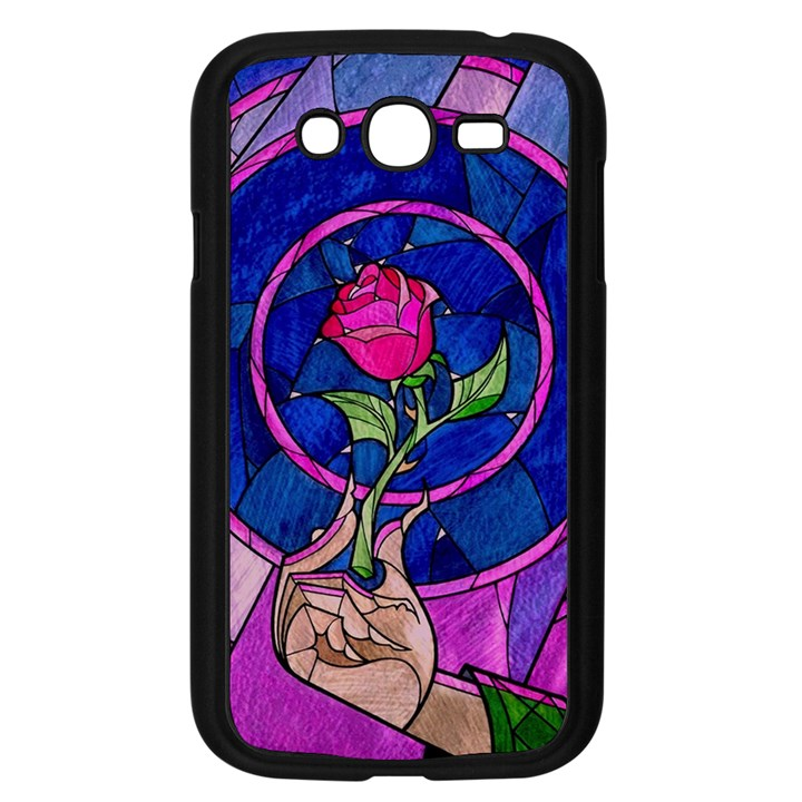 Enchanted Rose Stained Glass Samsung Galaxy Grand DUOS I9082 Case (Black)