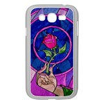 Enchanted Rose Stained Glass Samsung Galaxy Grand DUOS I9082 Case (White) Front