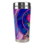 Enchanted Rose Stained Glass Stainless Steel Travel Tumblers Left