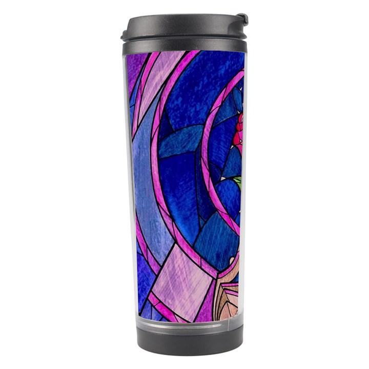 Enchanted Rose Stained Glass Travel Tumbler