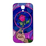 Enchanted Rose Stained Glass Samsung Galaxy S4 I9500/I9505  Hardshell Back Case Front