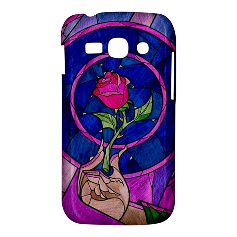 Enchanted Rose Stained Glass Samsung Galaxy Ace 3 S7272 Hardshell Case
