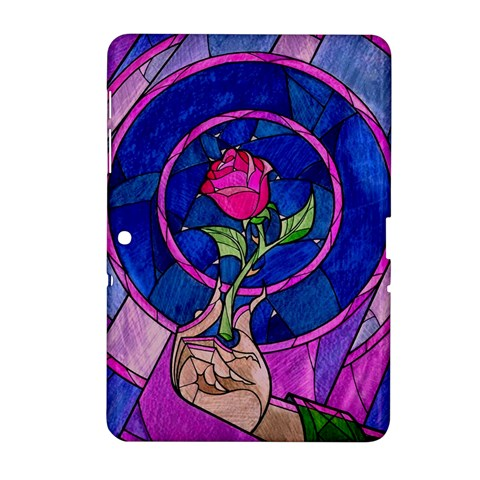 Enchanted Rose Stained Glass Samsung Galaxy Tab 2 (10.1 ) P5100 Hardshell Case