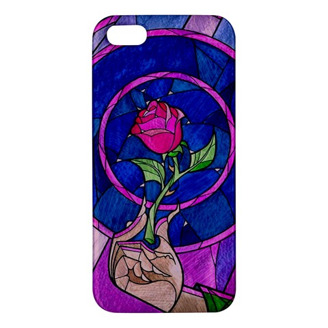 Enchanted Rose Stained Glass iPhone 5S/ SE Premium Hardshell Case