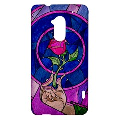 Enchanted Rose Stained Glass HTC One Max (T6) Hardshell Case