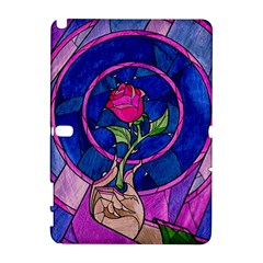 Enchanted Rose Stained Glass Samsung Galaxy Note 10 1 (p600) Hardshell Case