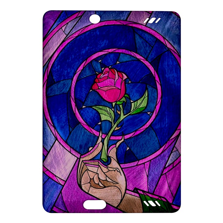 Enchanted Rose Stained Glass Amazon Kindle Fire HD (2013) Hardshell Case