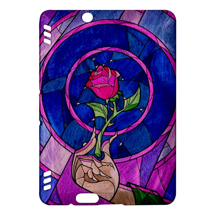 Enchanted Rose Stained Glass Kindle Fire HDX Hardshell Case
