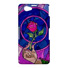Enchanted Rose Stained Glass Sony Xperia Z1 Compact