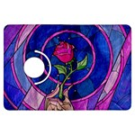 Enchanted Rose Stained Glass Kindle Fire HDX Flip 360 Case Front