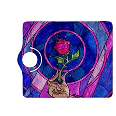 Enchanted Rose Stained Glass Kindle Fire HDX 8.9  Flip 360 Case