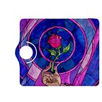Enchanted Rose Stained Glass Kindle Fire HDX 8.9  Flip 360 Case Front