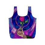 Enchanted Rose Stained Glass Full Print Recycle Bags (S)  Back