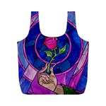 Enchanted Rose Stained Glass Full Print Recycle Bags (M)  Back