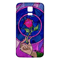 Enchanted Rose Stained Glass Samsung Galaxy S5 Back Case (White)