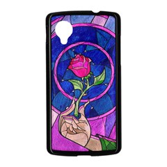 Enchanted Rose Stained Glass Nexus 5 Case (Black)
