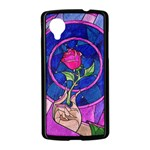 Enchanted Rose Stained Glass Nexus 5 Case (Black) Front