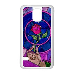 Enchanted Rose Stained Glass Samsung Galaxy S5 Case (White)
