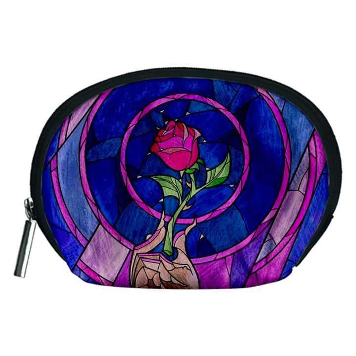 Enchanted Rose Stained Glass Accessory Pouches (Medium)