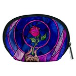 Enchanted Rose Stained Glass Accessory Pouches (Medium)  Back