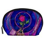 Enchanted Rose Stained Glass Accessory Pouches (Large)  Front