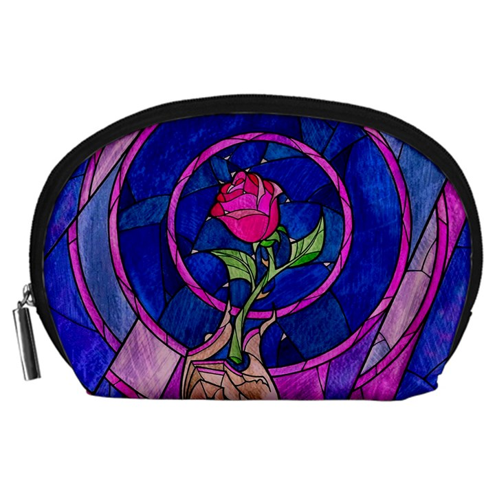 Enchanted Rose Stained Glass Accessory Pouches (Large)