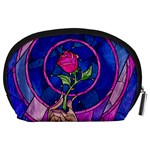 Enchanted Rose Stained Glass Accessory Pouches (Large)  Back
