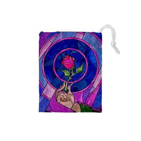Enchanted Rose Stained Glass Drawstring Pouches (Small)