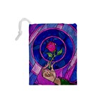 Enchanted Rose Stained Glass Drawstring Pouches (Small)  Back