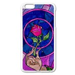 Enchanted Rose Stained Glass Apple iPhone 6 Plus/6S Plus Enamel White Case Front
