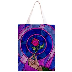 Enchanted Rose Stained Glass Classic Light Tote Bag