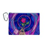 Enchanted Rose Stained Glass Canvas Cosmetic Bag (M) Front
