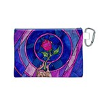 Enchanted Rose Stained Glass Canvas Cosmetic Bag (M) Back