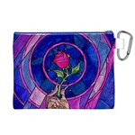 Enchanted Rose Stained Glass Canvas Cosmetic Bag (XL) Back