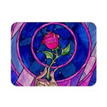 Enchanted Rose Stained Glass Double Sided Flano Blanket (Mini)  35 x27 Blanket Back