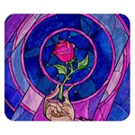 Enchanted Rose Stained Glass Double Sided Flano Blanket (Small)  50 x40 Blanket Back