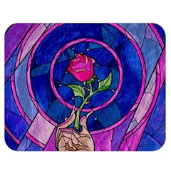 Enchanted Rose Stained Glass Double Sided Flano Blanket (Medium)