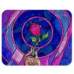 Enchanted Rose Stained Glass Double Sided Flano Blanket (Medium)  60 x50 Blanket Back