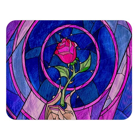 Enchanted Rose Stained Glass Double Sided Flano Blanket (Large)
